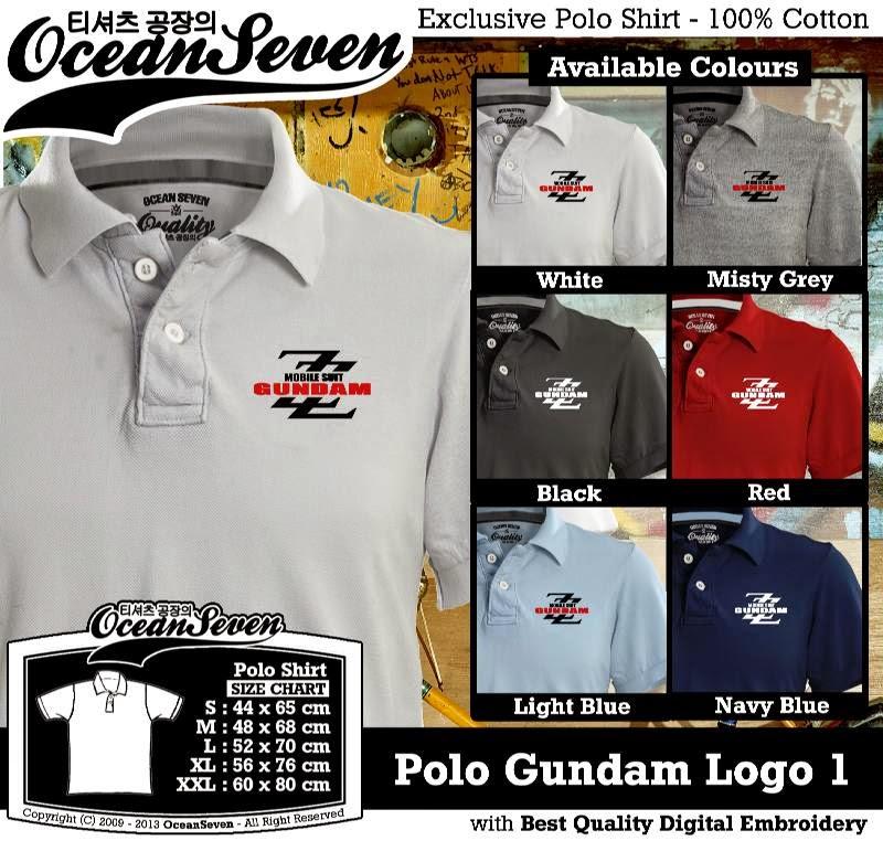 Kaos Polo Gundam Logo 1