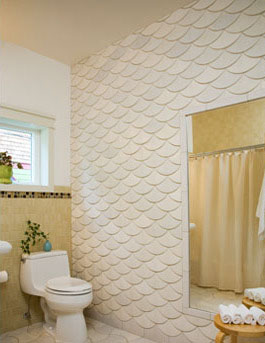 fish scale wall treatment