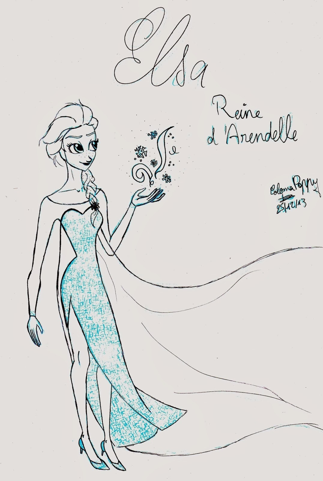 comment dessiner la reine des neiges