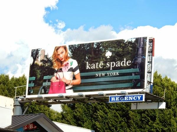 Kate Spade Karlie Kloss Spring 2015 billboard