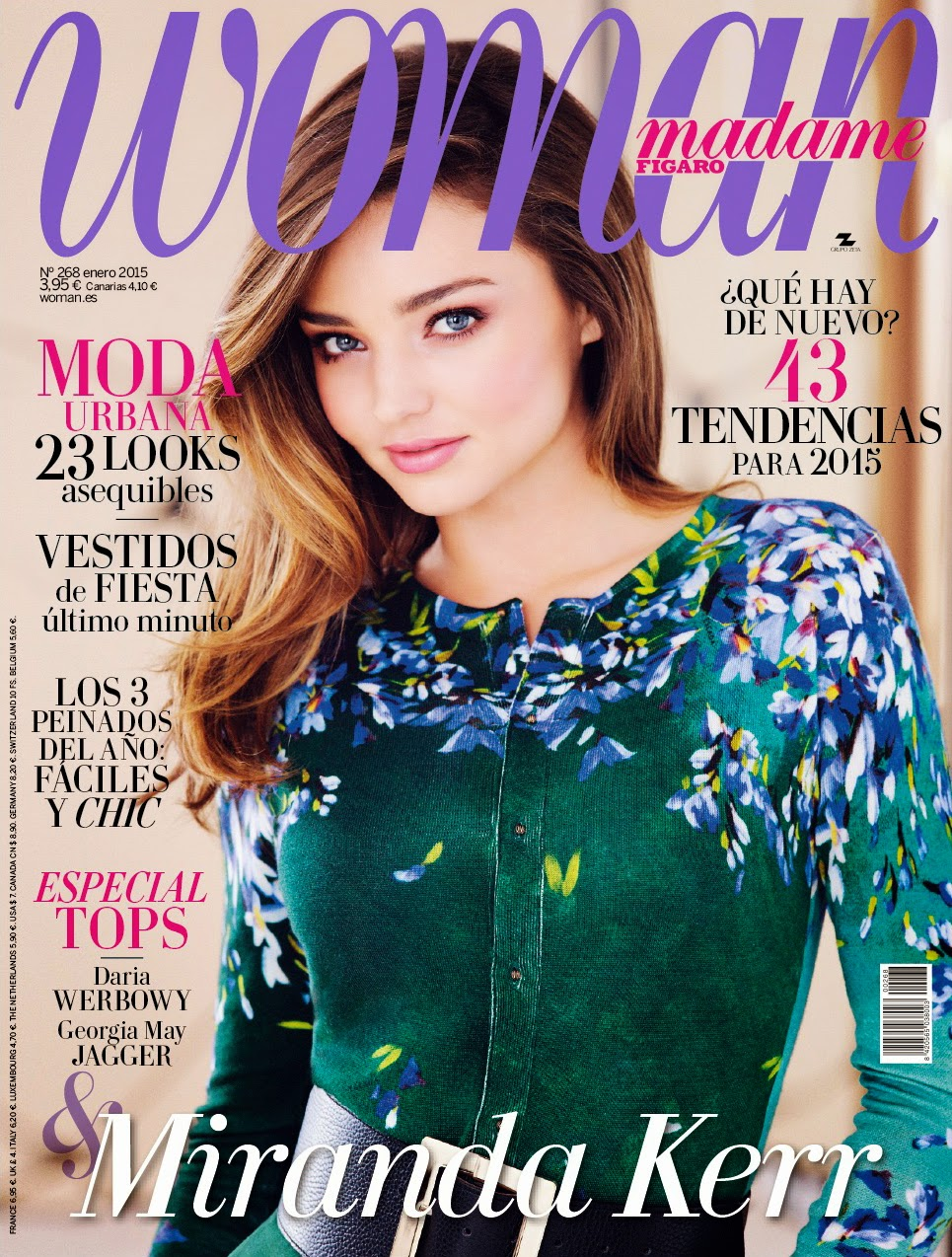 Miranda Kerr - Woman Madame Figaro Magazine, Spain, January 2015