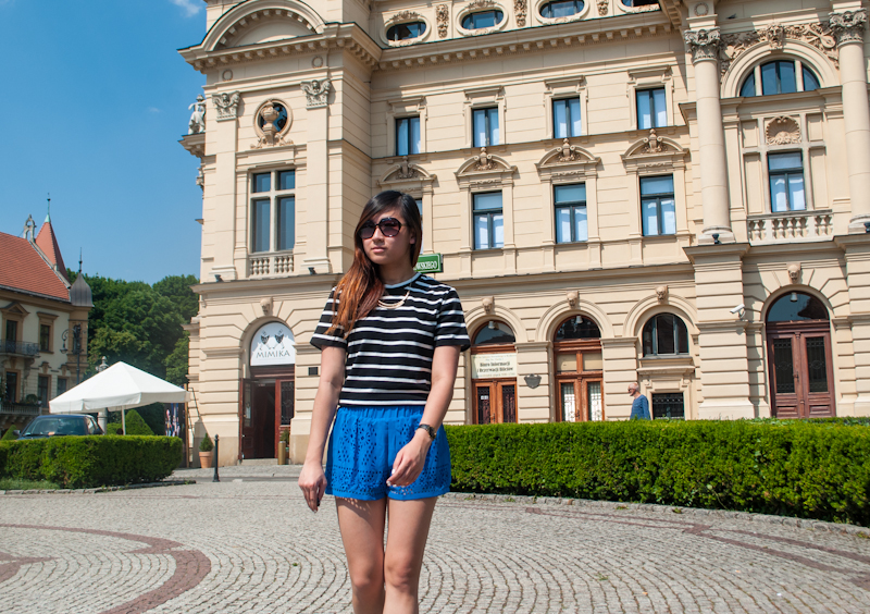 Sheinside summer outfit featuring stripes and colours