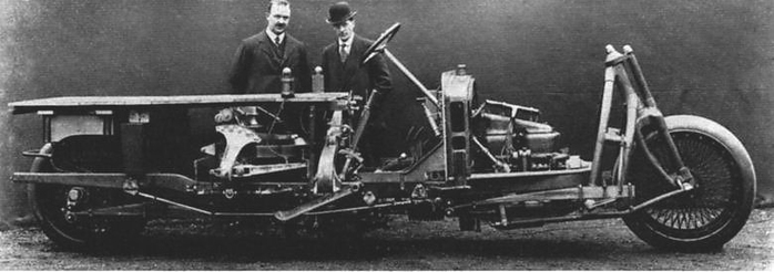 Gyrocar до устоновки кузова, сфотографировано незадолго до первого испытательного пробега.