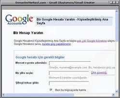gmail hesap açma