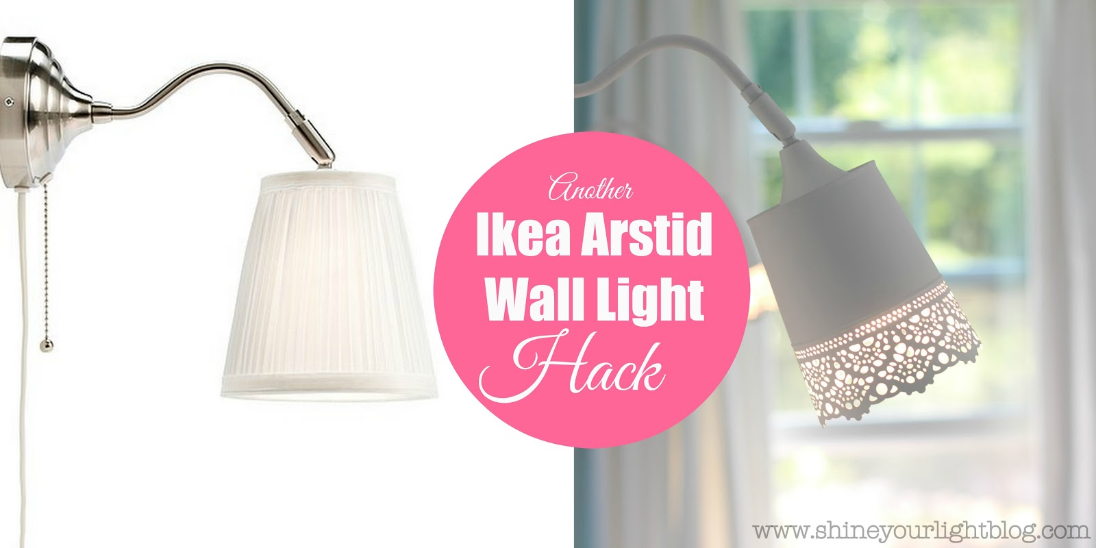 Another ikea arstid wall light hack shine your light another ikea arstid wall light hack aloadofball Gallery