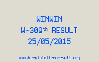 WINWIN W 309 Lottery Result 25-5-2015