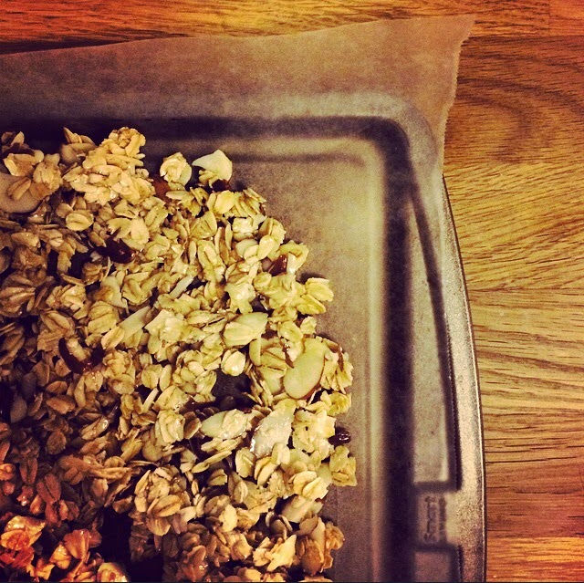 homemade honey oat granola