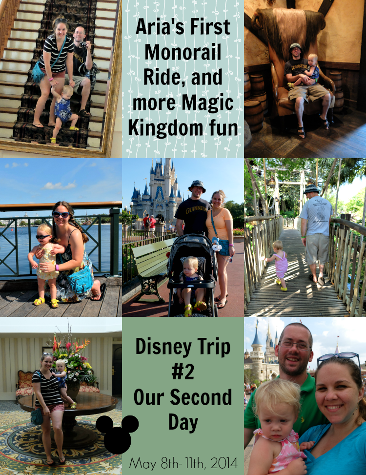 Aria's First Monorail Ride, and more Magic Kingdom fun