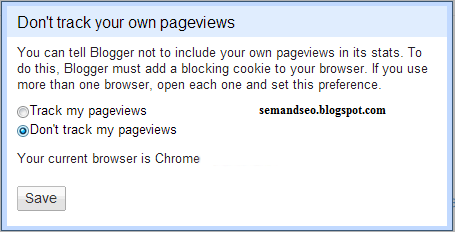 Don't Track Your Blogger PageViews Setting