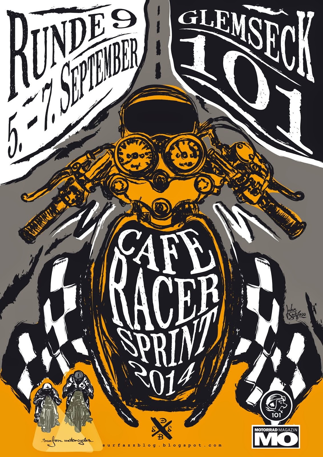 the Cafe Racer Sprint 2014 Poster