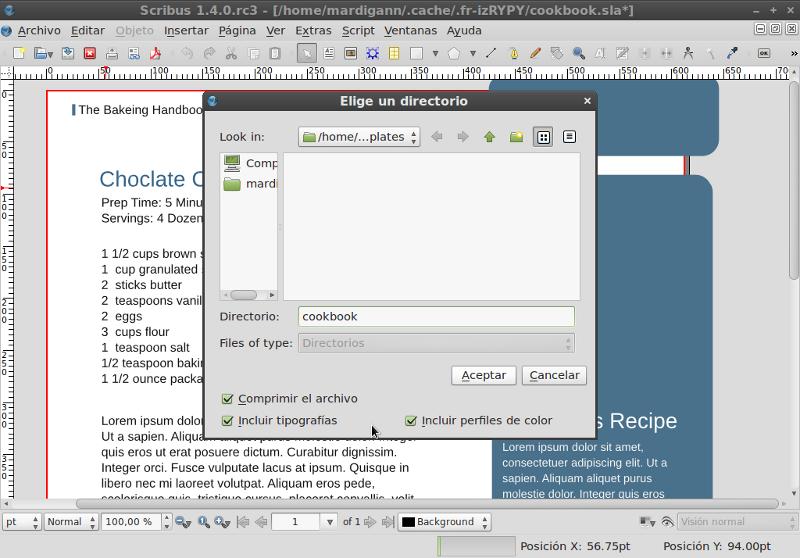 es documents and settings datos de programa scribus templates