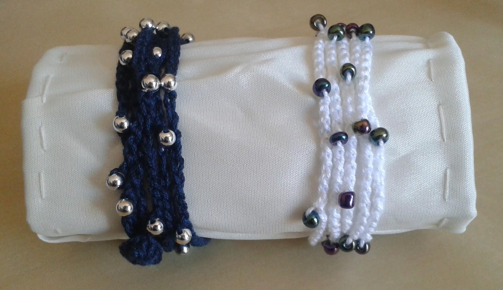 Estremamente Sarah Z. bijou: Semplici bracciali all'uncinetto con perline LX19