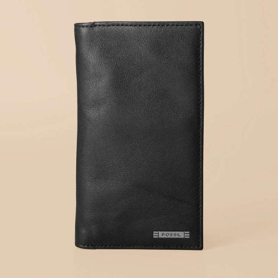 my loss is your gain fossil evans mens checkbook wallet