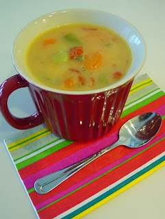 Vegetable Cheese Soup from Soup Spice Everything Nice