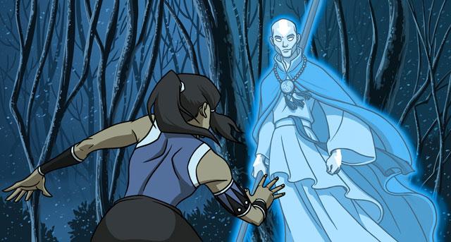 Korra Meet Aang Spirit