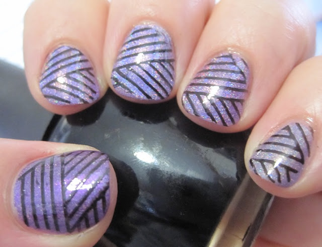 purple holos stamped