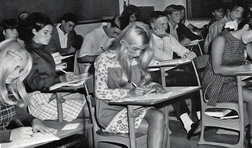 Mini Skirt in School with Male Teacher of the 1970s ...