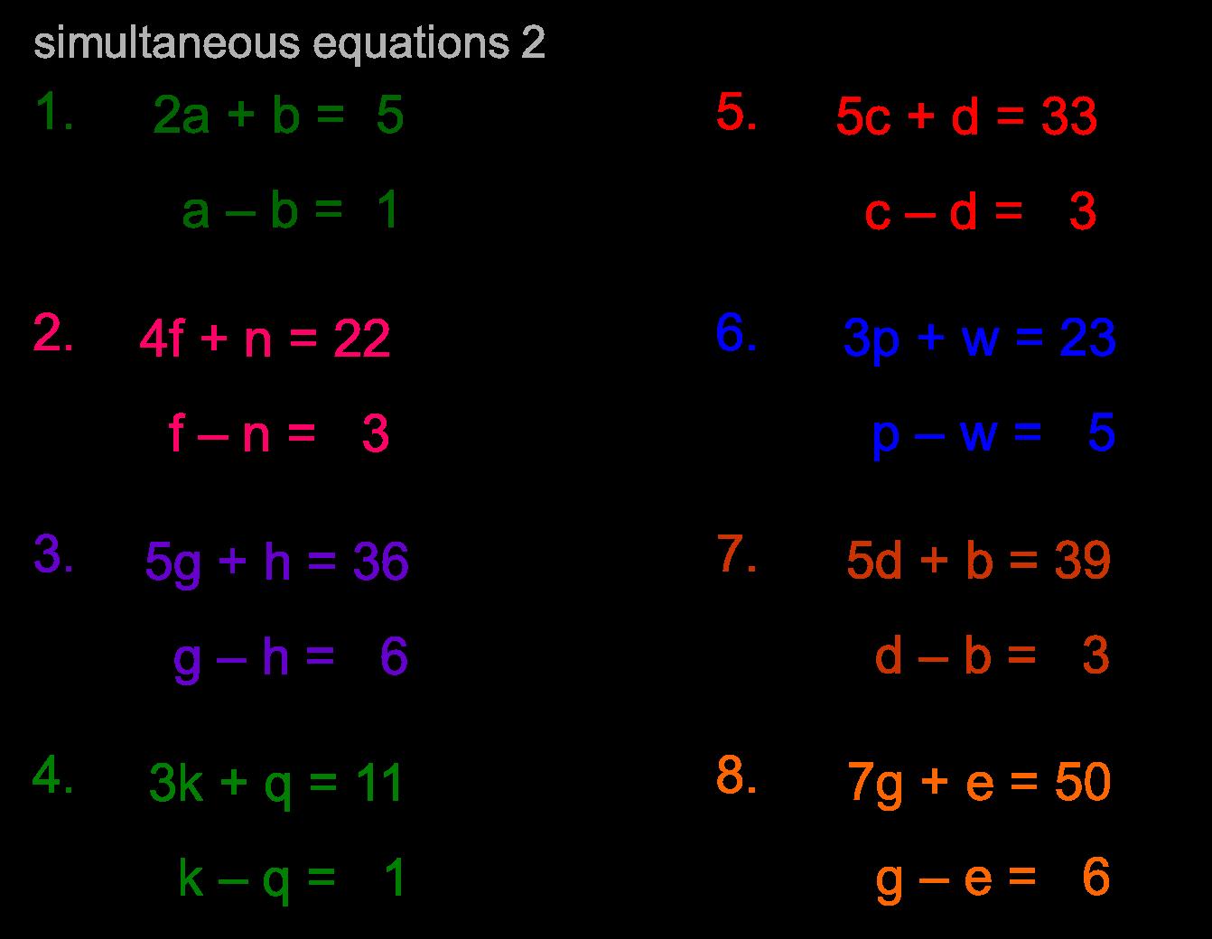 1 Step Equations Worksheet 004 - 1 Step Equations Worksheet