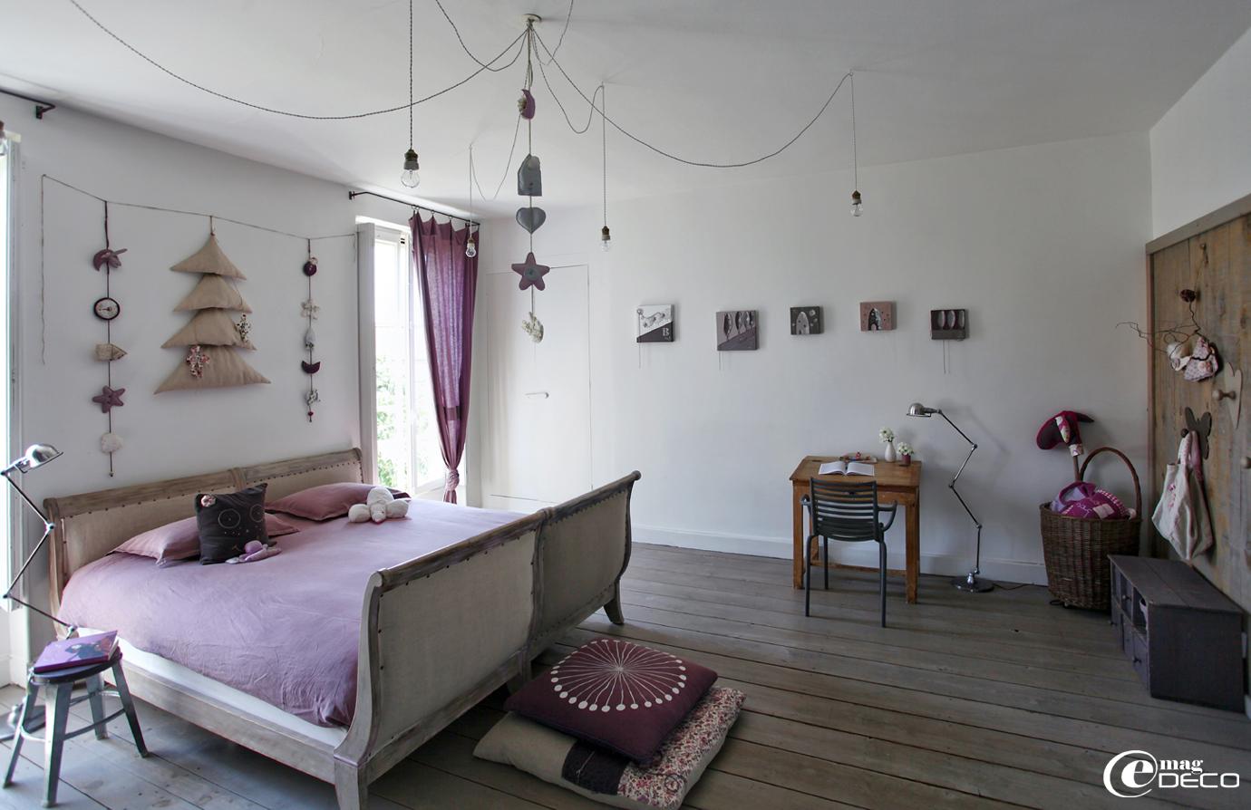 Chambre de jeune fille décorée par Béatrice Loncle, créatrice-décoratrice à Agen