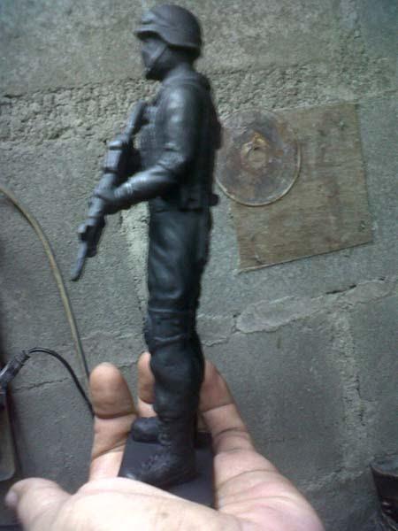 action figure pasukan khusus polisi fiber