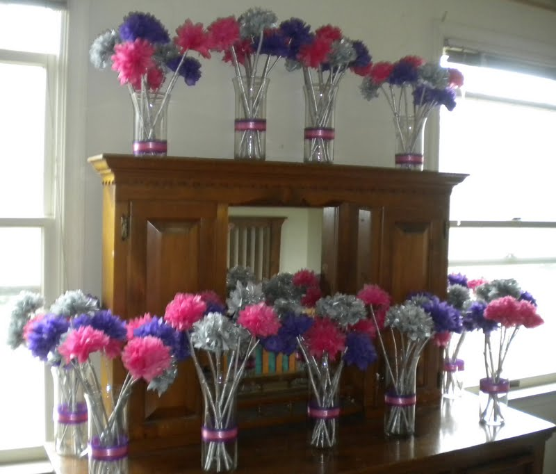 My diy tissue paper flower wedding centerpieces my girlish whims mightylinksfo