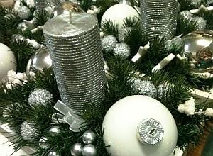 Navidad, Centros de Mesa, Color Plata parte 4