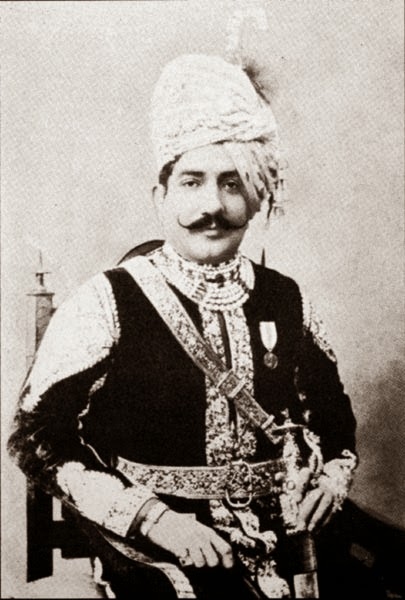 An Indian kig, in kingly attire
