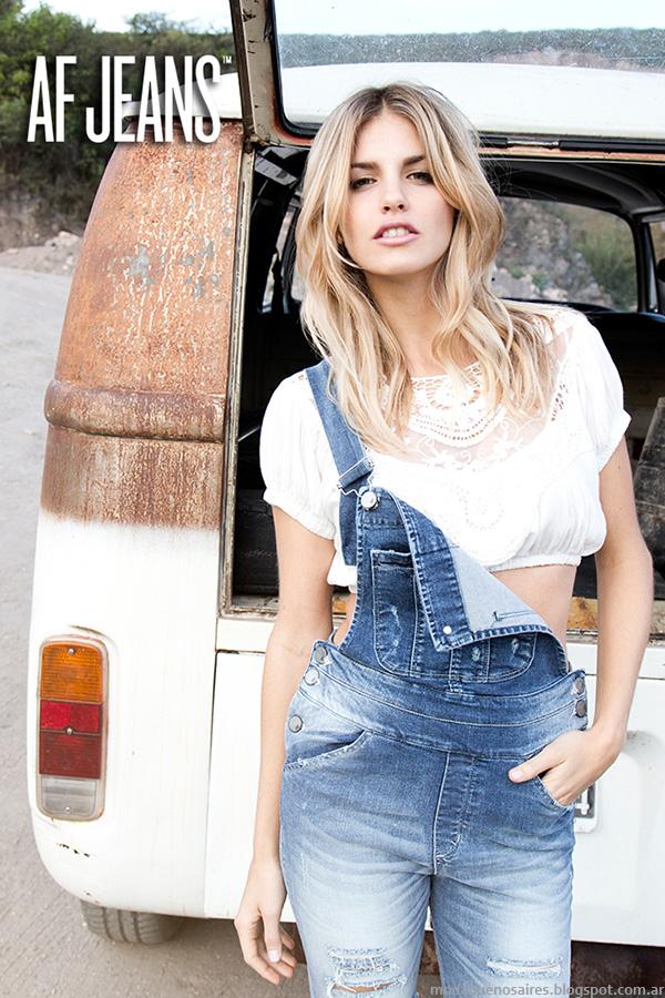 Moda verano 2016 Argentina. Enteritos de jeans moda verano 2016.