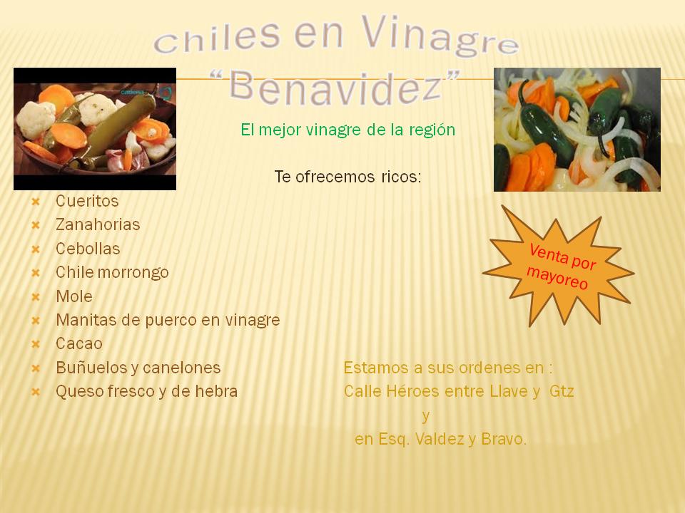 "Chiles en Vinagre ""Benavidez"""
