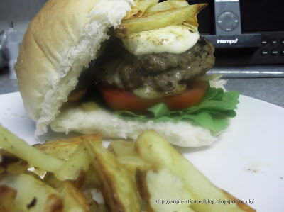 Home made italian beef burger