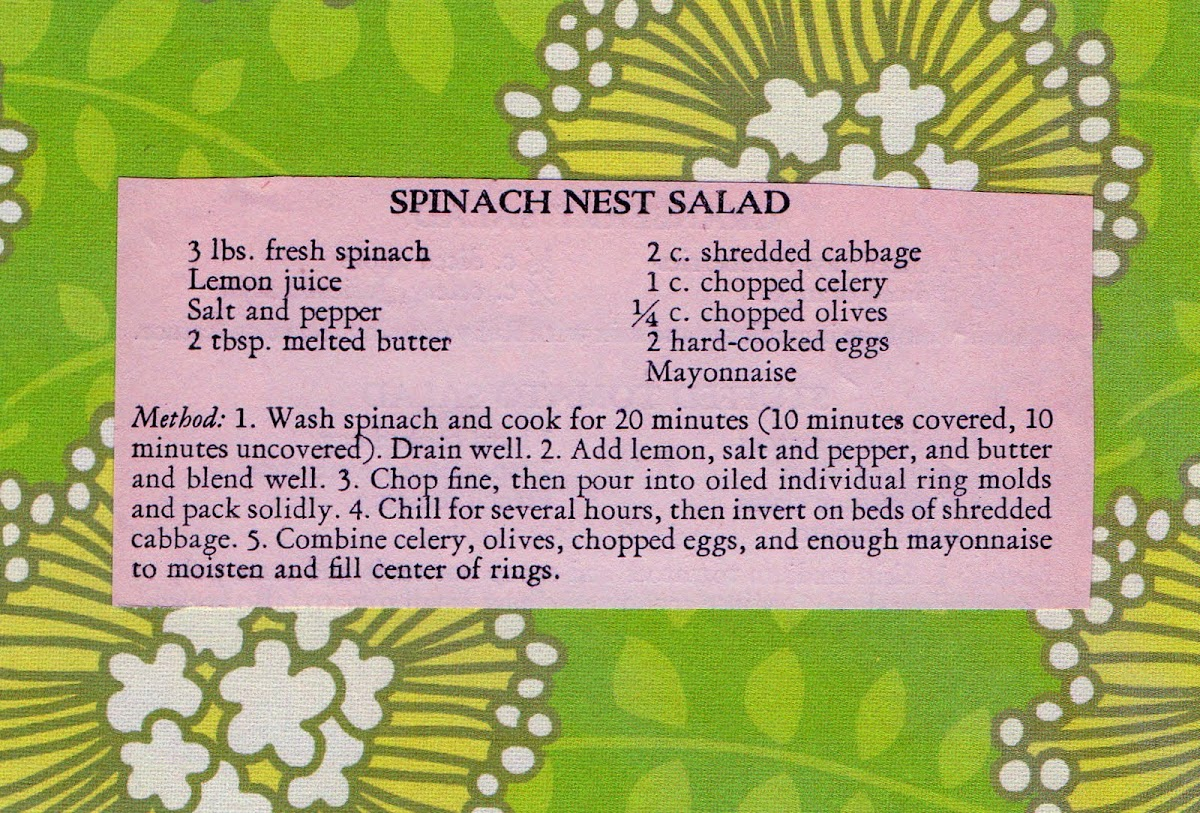 Spinach Nest Salad (quick recipe)