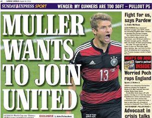 Thomas Muller Ingin Pindah ke Manchester United