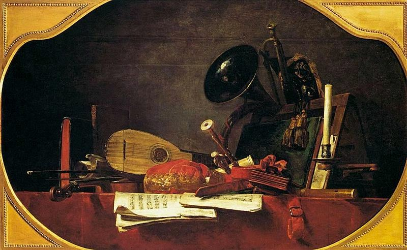 Les Attributs De La Musique. 1765