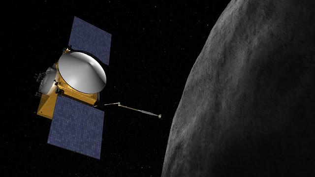 Hình mô phỏng tàu OSIRIS-REx đang tiếp cận tiểu hành tinh Bennu. Credit : NASA