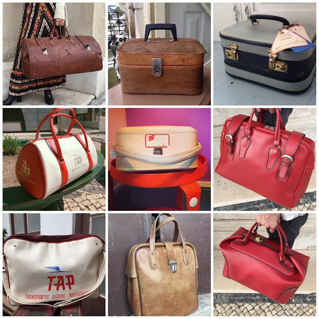 malas, vintage, viagens, TAP