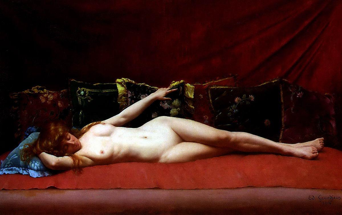 edmond grandjean femme nue allongée