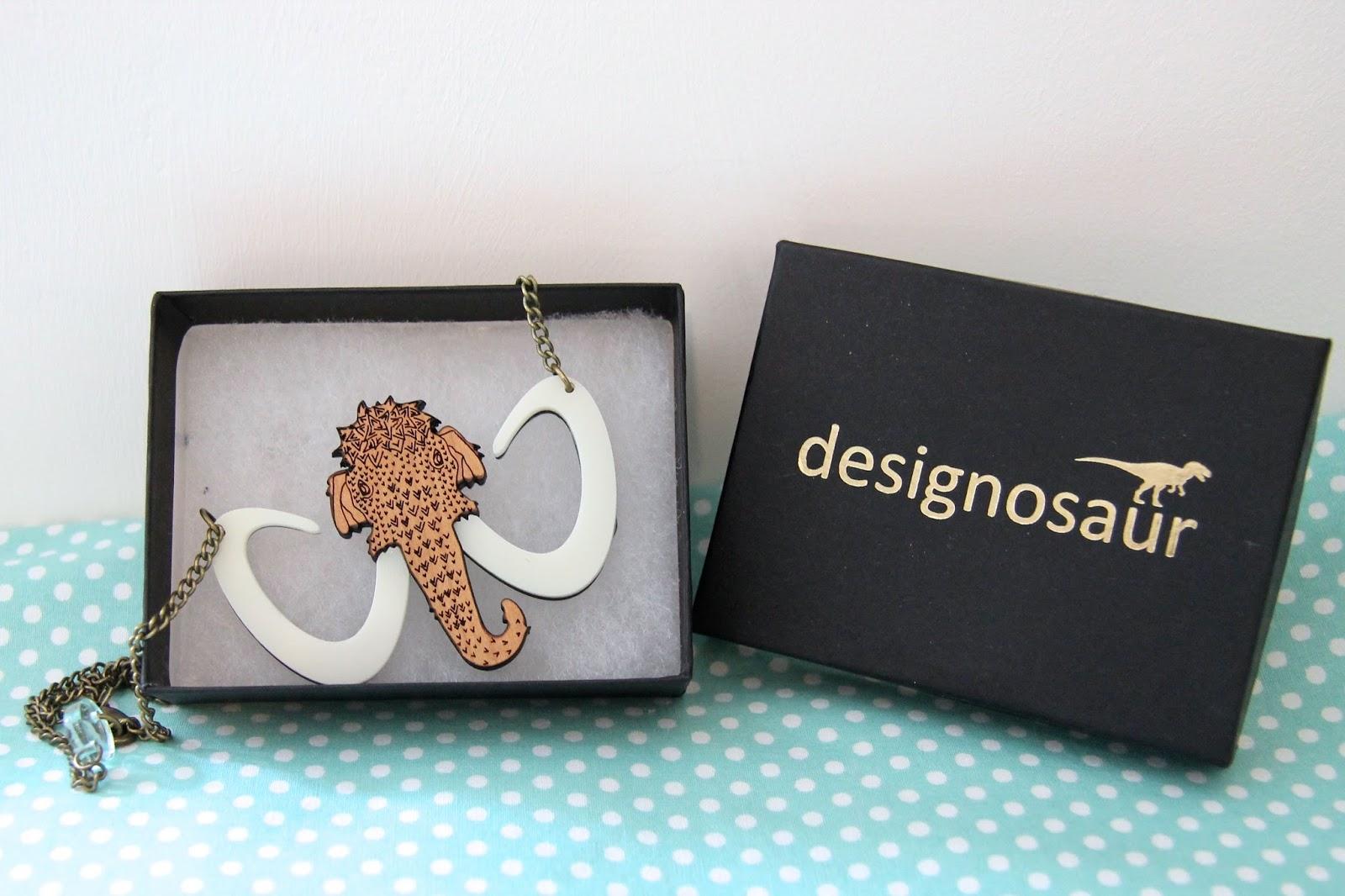designosaur mammoth necklace
