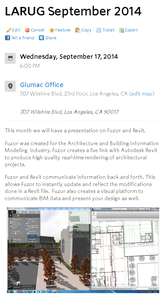 http://www.meetup.com/LA-Revit-User-Group/events/203796892/