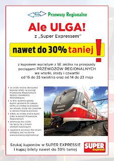 Ale Ulga z Super Expressem na zakup biletu PKP Regio