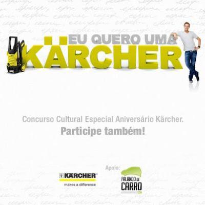 """Concurso Cultural """"Eu quero uma Kärcher"""""""