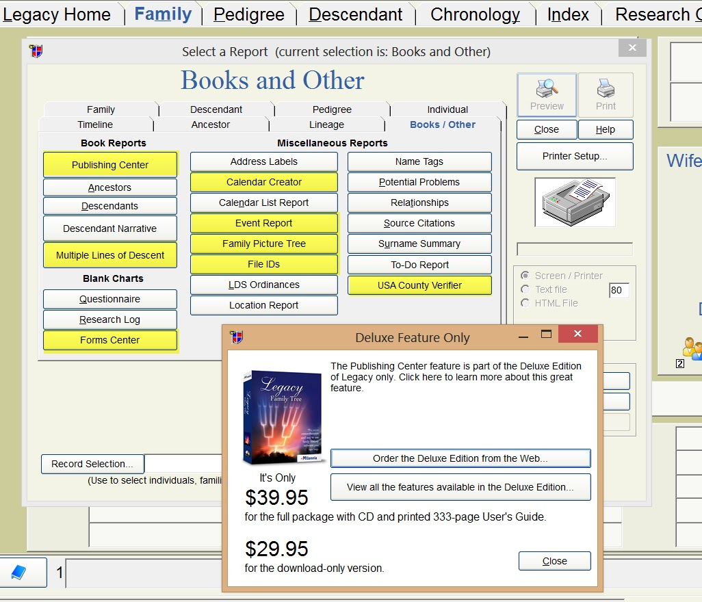 legacy genealogy download