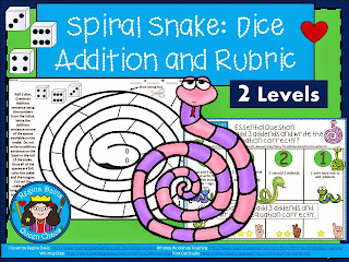 https://www.teacherspayteachers.com/Product/A-Snake-Dice-Addition-and-RubricDifferentiated-Instruction-1863807