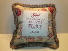 """1 Cor. 7:15 - floral linen - 16"""""""