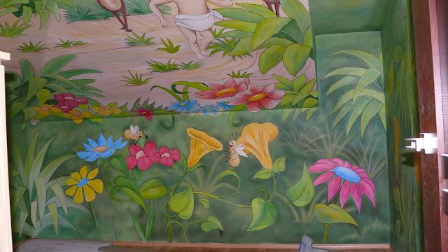 Artistic wall painting, aranżacja pokoju dziewczynki, warszawa