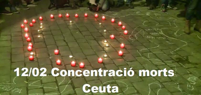 Homenatge als morts a Ceuta, febrer 2014