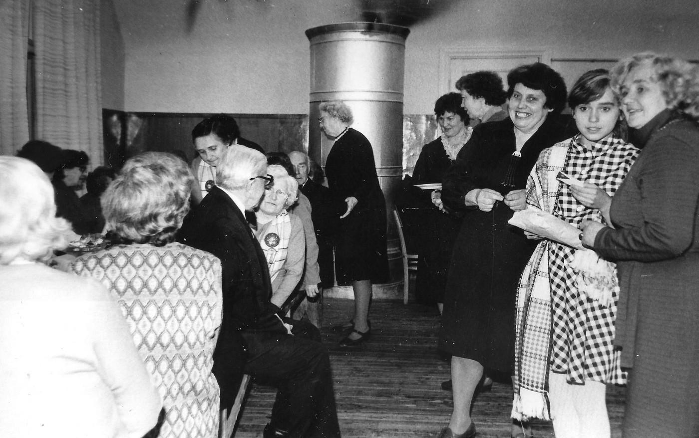 Pensionāru vakars Valles kultūras namā 1985. gadā - 1