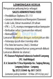 Bursa Kerja PT. Charoen Pokphand Indonesia