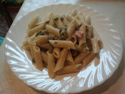 philadelphia, piselli e pancetta