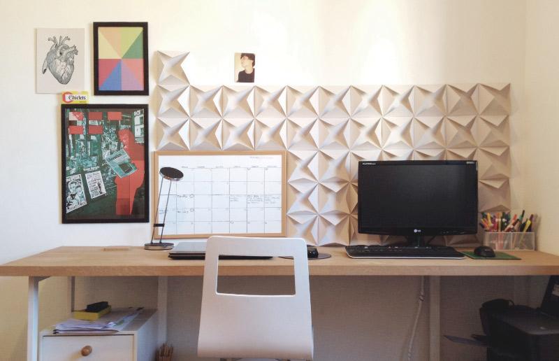 Dobradura de papel: uma ideia linda e barata para a sua parede - 3