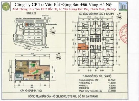 Chung cư Đại Thanh Ct8 54,71m2